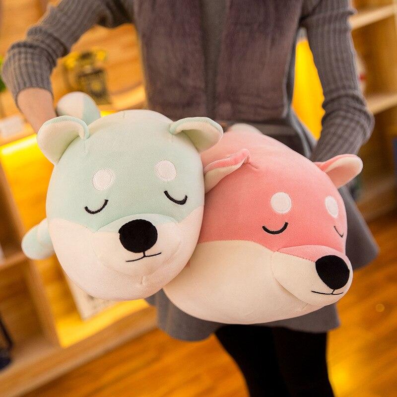 2018 Soft Dog Toy Sleeping Pillow Down Cotton Plush Akita Toys Birthday Present Creative Dolls Girlfriend Birthday Gifts in Stuffed Plush Animals from Toys Hobbies