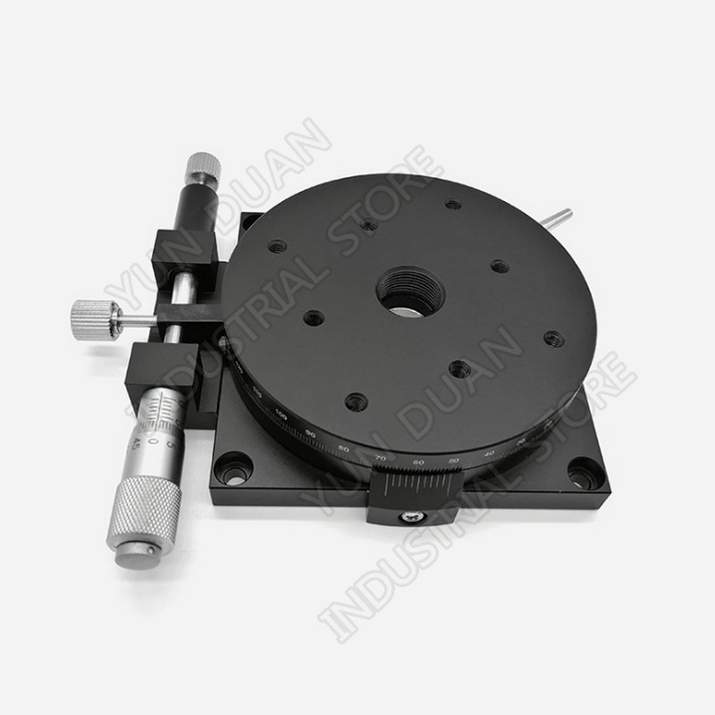 R Axis  Sliding Table 100MM 4 Manual 360 Degree Heavy Load RotaryMicrometer Precision Adjust Angle Platform Optical RSP100-LR Axis  Sliding Table 100MM 4 Manual 360 Degree Heavy Load RotaryMicrometer Precision Adjust Angle Platform Optical RSP100-L