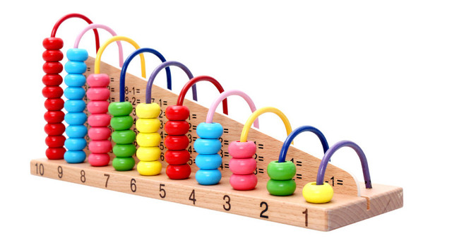 Math Toys For Kids : Colorful kids wooden abacus counting beads math toys