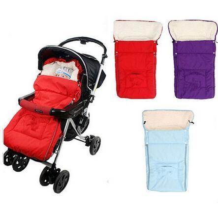 2016 venta caliente 1 unid Envoltura Caliente para Cochecito de Bebé Recién Nacido Saco de Dormir Polar Saco Saco Cochecito Infantil