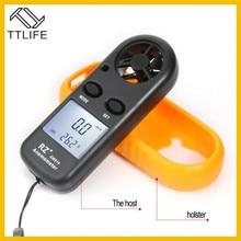 цена на TTLIFE RZ 818 Portable Anemometer Anemometro Thermometer GM816 Wind Speed Gauge Meter Windmeter 30m/s LCD Digital Handheld Tool