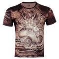 Novo Menino Da Menina Camiseta 3D Animal Print de Cobra Galáxia Cão T-Shirt Crianças Criativo Fresco Tops Fit Altura 95-155 CM 4-15 Anos de Idade