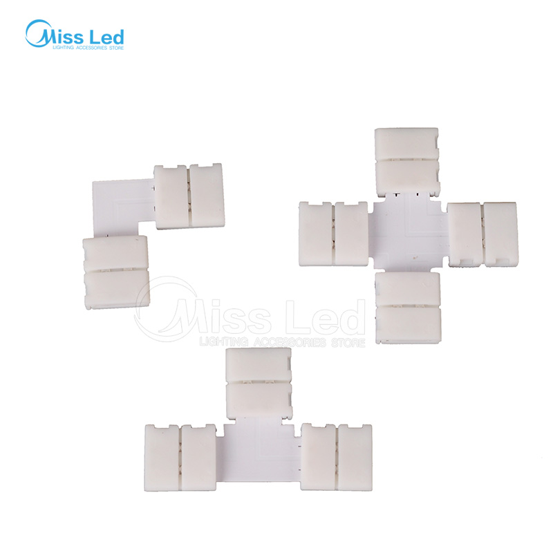 10pcs/20pcs/50pcs 8mm/10mm 2PIN corner Connector T/L/X shape connector For RGBWW led strip No soldering with 2pin connector 5pcs led strip connector 2pin 8mm 10mm l t x shape quick splitter right angle free welding connector for single color led strip
