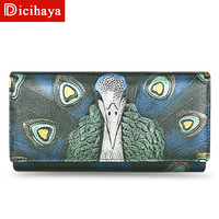 DICIHAYA 2018 Luxury Brand Women Wallets Genuine Leather Coin Purse Famous Brand Long Womens Purses Real Leather Female Wallets