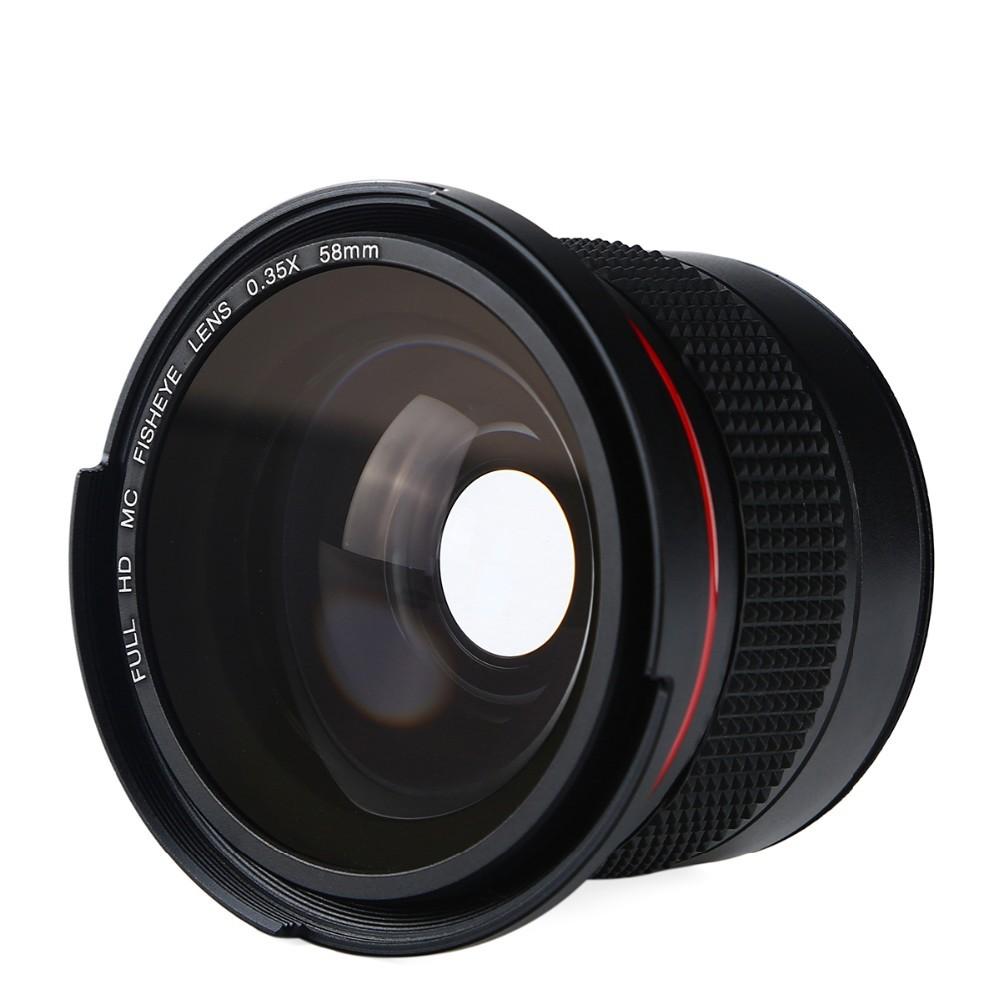 K&F CONCEPT HD 0.35x 58mm/52mm Fisheye Macro Wide Angle Lens for Canon EOS 700D 650D 600D 550D Rebel T5i T4i T3i T2i DSLR Camera 10