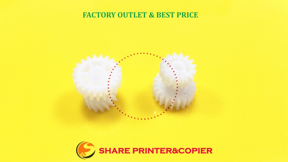 SHARE White Gear Compatible New RU6-0710-000 21T/15T Gear For LJ 5225 5525 For Canon C2020 C2030 C2225 C2230