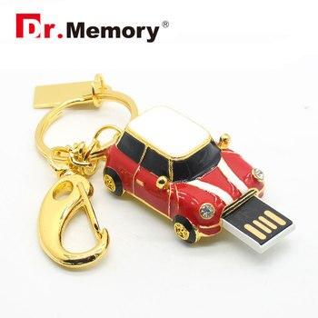 Dr.Memory Sport Car USB Flash Drives Mini metal car pen drive 64GB 32GB 16GB Cartoon usb flash memory stick black x u disk