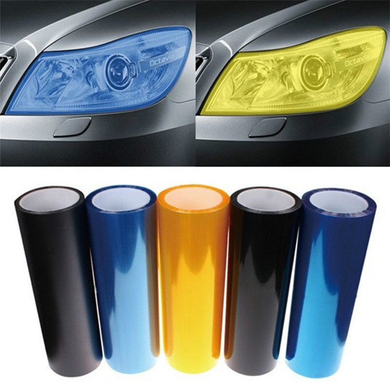 30cmx100cm/piece Car Lights Wrap Wrapping Protective Tint Film Sticker Changing Color Automobile Motorcycle Exterior Accessories