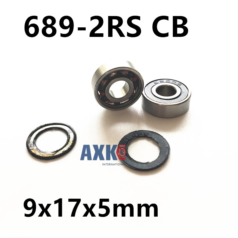 Free shipping 689-2RS 689 hybrid ceramic abec5 deep groove ball bearing 9x17x5mm sinix 689