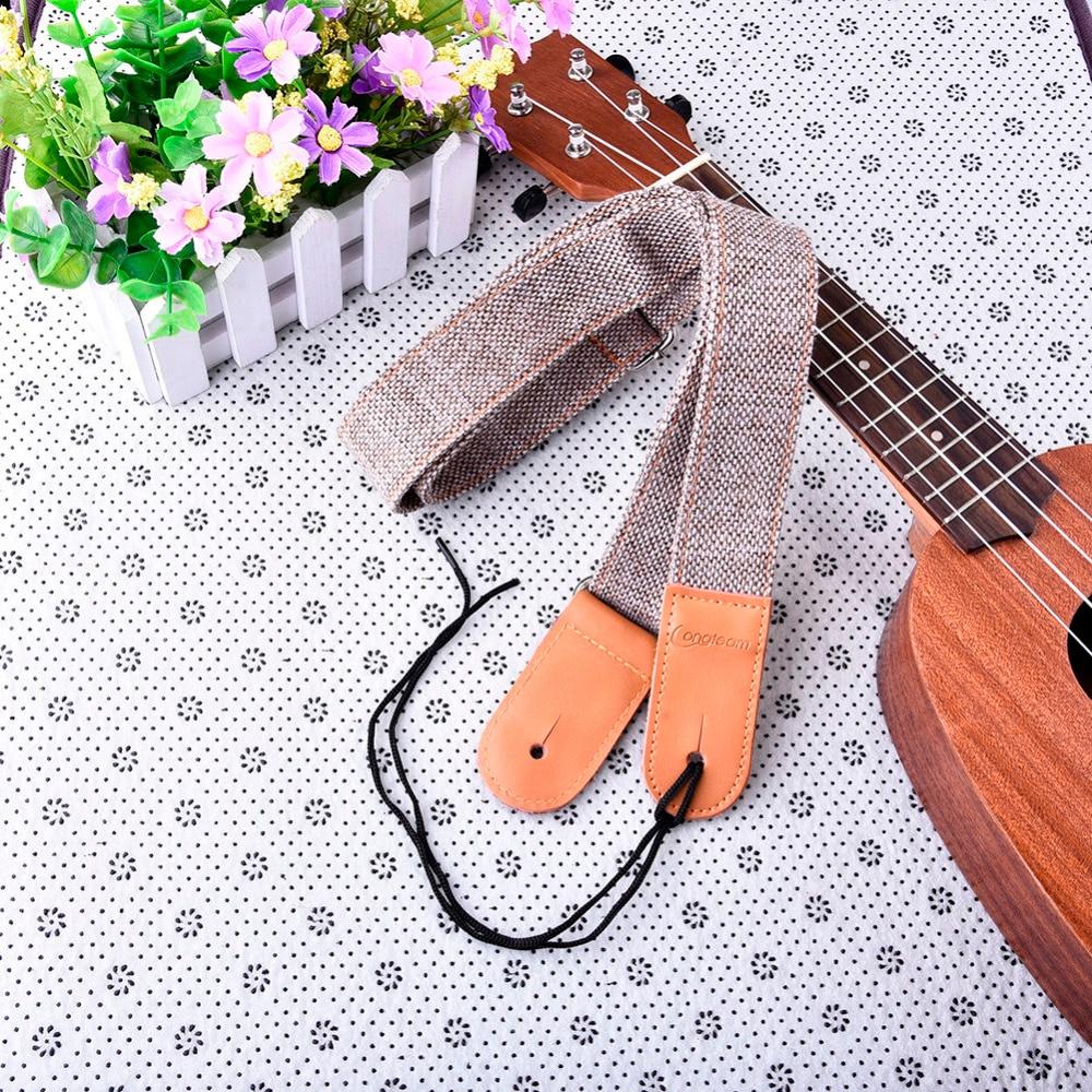 Ukelele deel katoen en linnen ukelele bandjes met 1 set gespen zachte - Muziekinstrumenten - Foto 5