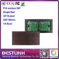 320 * 160 мм 32 * 16 пикселей P10 открытый красный из светодиодов модуль для один красный P10 из светодиодов дисплей сообщений из светодиодов знак