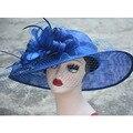Женская Лето Sinamay Вс Шляпы Пляж Головные Уборы шапки 2 Цвета Лучшие Качества cap Оптовая A370
