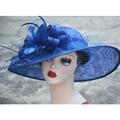 Sinamay Sombreros para el Sol de Verano Playa de Las Mujeres de las mujeres casquillo Headwear caps 2 Colores de Calidad Superior Al Por Mayor A370
