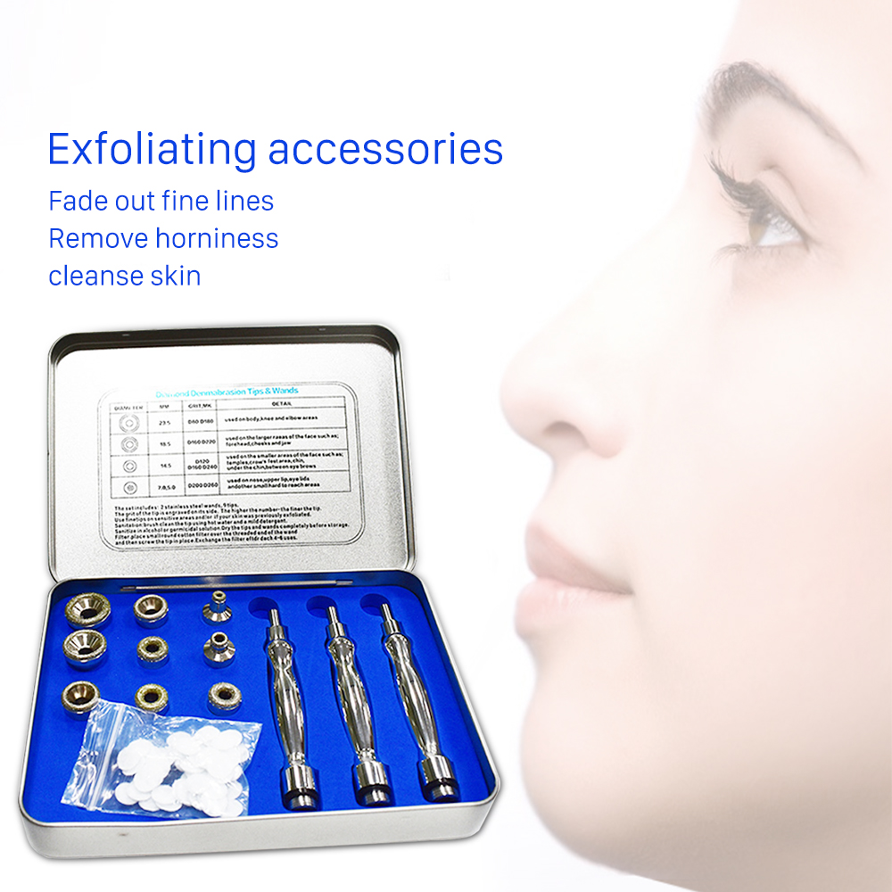 9 Tips +3 Wands Diamond Dermabrasion Accessory Tips Diamond Wands Cotton Filter Skin Peeling Microdermabrasion Skin Rejuvanation9 Tips +3 Wands Diamond Dermabrasion Accessory Tips Diamond Wands Cotton Filter Skin Peeling Microdermabrasion Skin Rejuvanation
