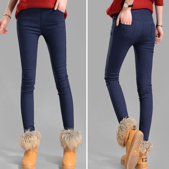 NIJIUDING 秋冬女性パンツのベルベットの肥厚レギンスズボンマルチサイズ XXXL 女性暖かいパンツズボンドロップシッピング