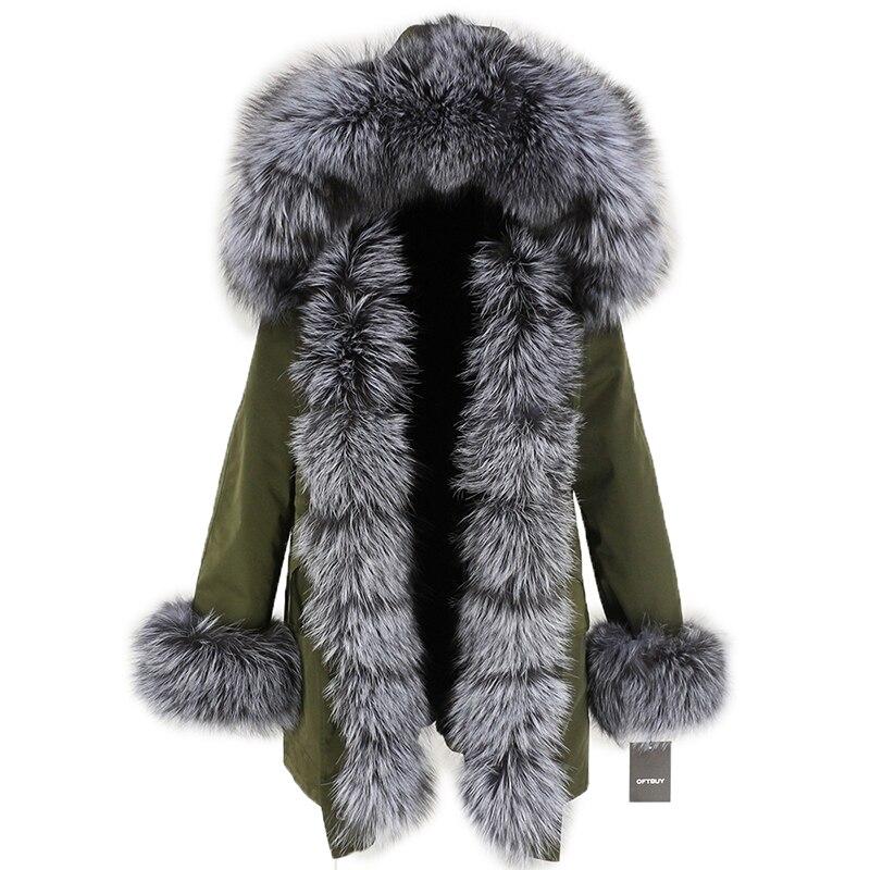 OFTBUY Waterproof Long Parka Winter Jacket Women Real Fur Coat Natural Fox Fur Collar Hood Thick Warm Streetwear Detachable New 115