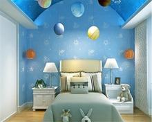 beibehang wallpaper papel de parede Modern children dream starry sky non-woven boy girl bedroom 3D flocking hudas beauty behang
