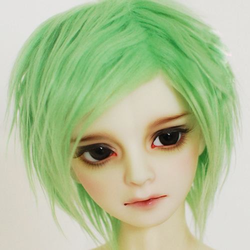 New 1/12 3-4 inch 9-10cm 1/8 4-5 inch 14cm BJD fabric fur wig Peak green For AE PukiFee lati Doll Antiskid BJD Doll Wig uncle 1 3 1 4 1 6 doll accessories for bjd sd bjd eyelashes for doll 1 pair tx 03