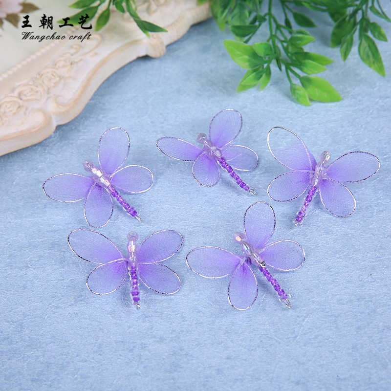 12 Pcs/lot nylon dragonfly red purple wedding decoration home birthday kids room decora baby shower TV kitchen garden wall