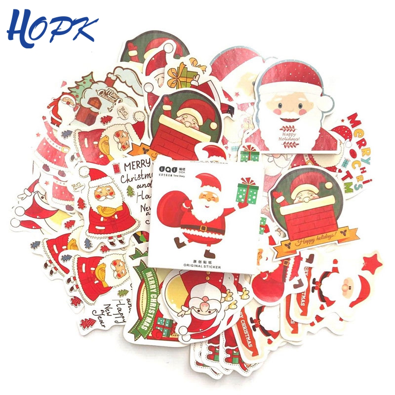 45 Pcs/Set 2019 Christmas Stickers Planner Decoration Diy Scrapbooking Cute Stick Label Journal Sticker Kawaii Stationery