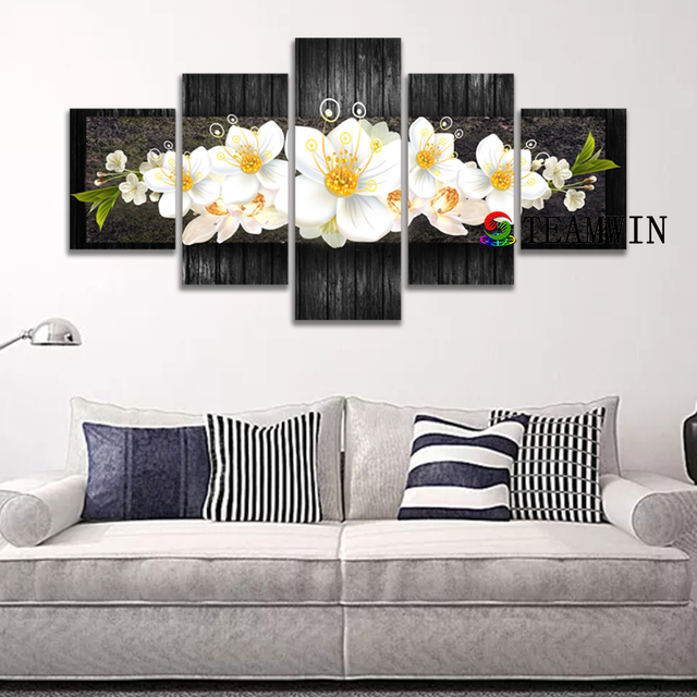 Canvas Painting Wall Art Hd Prints 5 Pieces Pictures Beautiful Flower Modular Poster Living Room Home