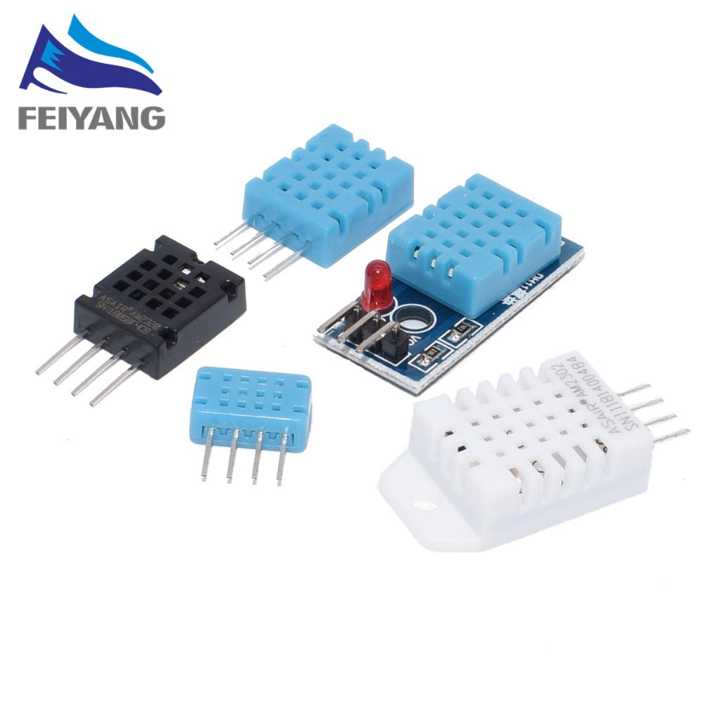 DHT22 AM2302 DHT11/DHT12 AM2320 Digital Temperature Humidity Sensor Module Board Ultra-low Power High Precision 4pin