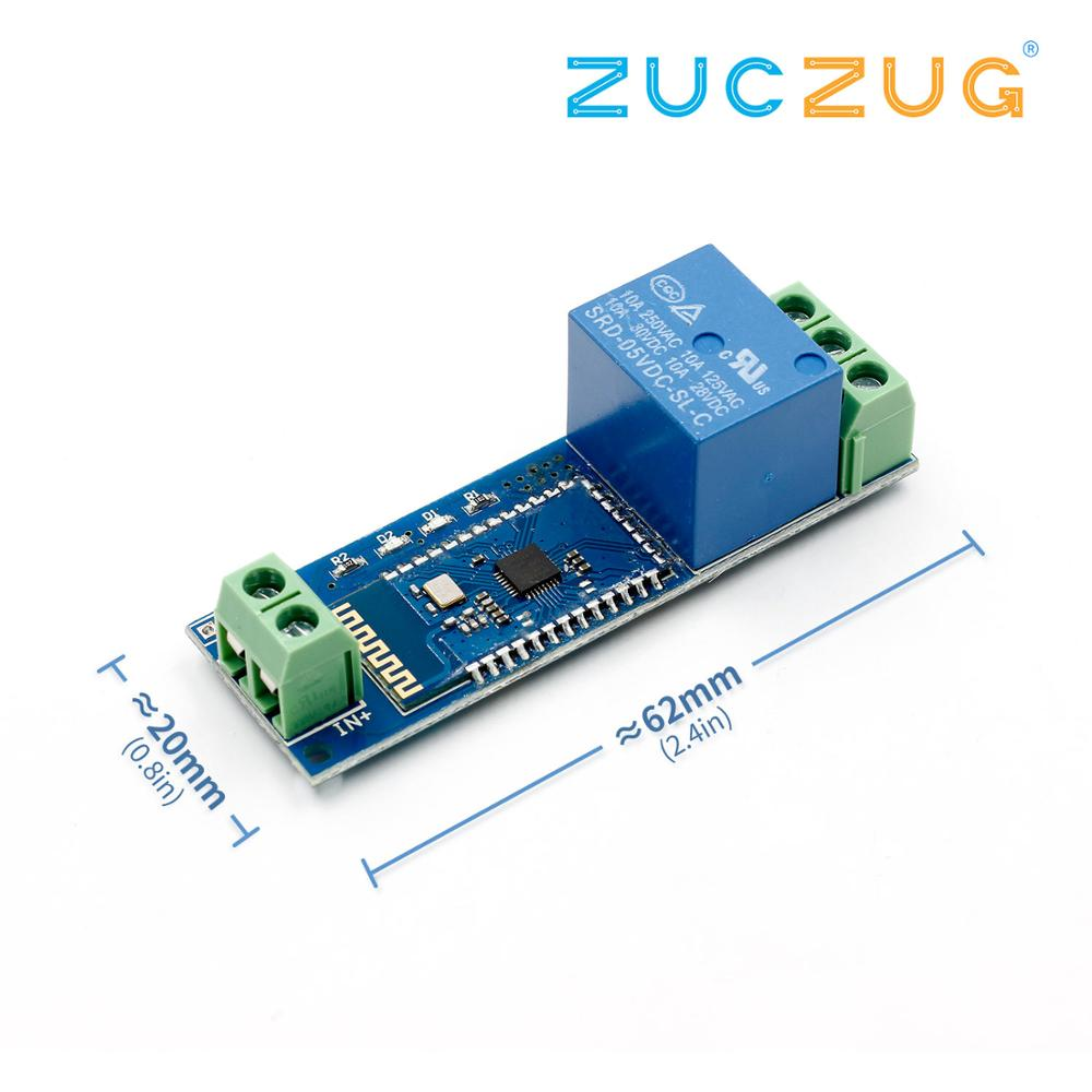 Smart Bluetooth Relay Module Remote Control Switch 5V/12V IOT Wireless Module Mobile Phone Bluetooth Remote Control Switch