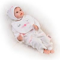 22 дюймов мягкий силиконовый винил возрождается куклы 55 см реалистичные куклы новорожденных образовательных девушка игрушки для детей фест