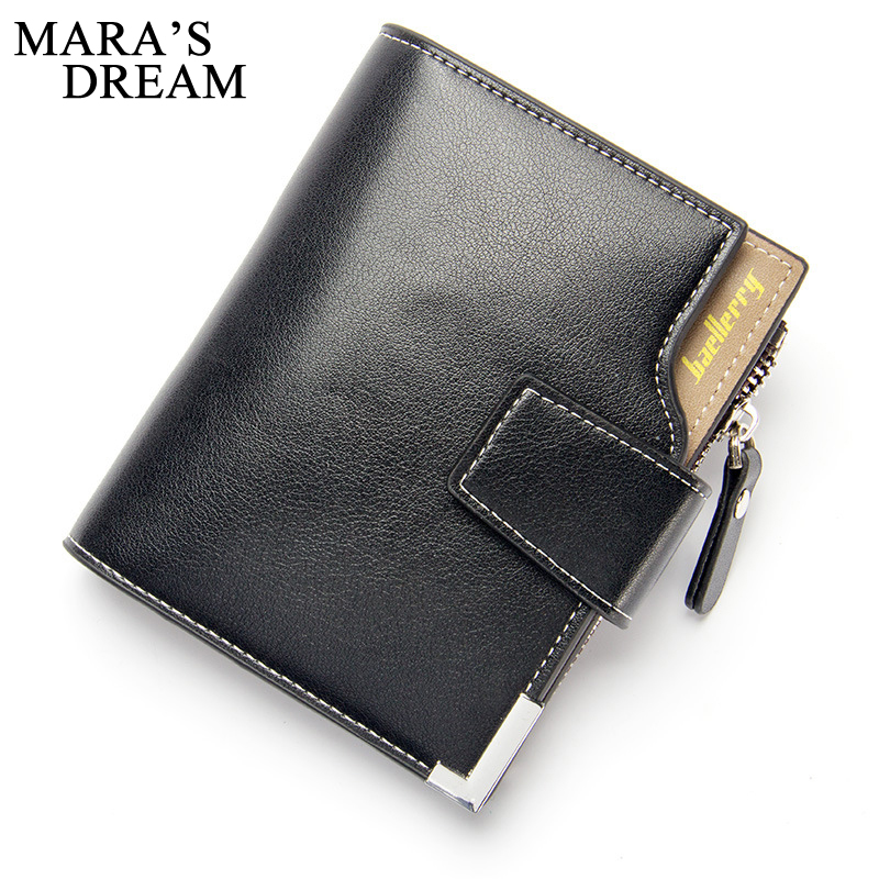 Mara's Dream New Wallet Brand Short Men Wallets PU Leather Male Purse Card Holder Wallet Fashion Man Zipper Wallet Men Coin Bags