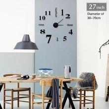 2018 New Home decoration big mirror wall clock modern design 3D DIY large decorative wall clocks watch wall unique gift