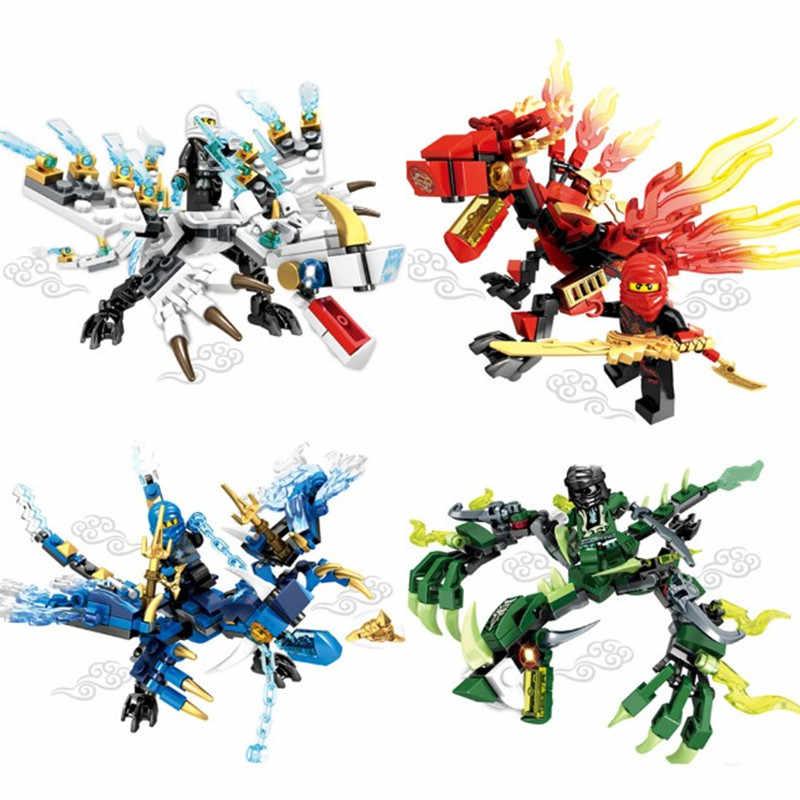 4 pçs/lote Legoing Ninjago Dragão Cavaleiro Bola Blocos de Construção Guerra Criador Figuras Amigos Tijolos Brinquedos Educativos para Crianças