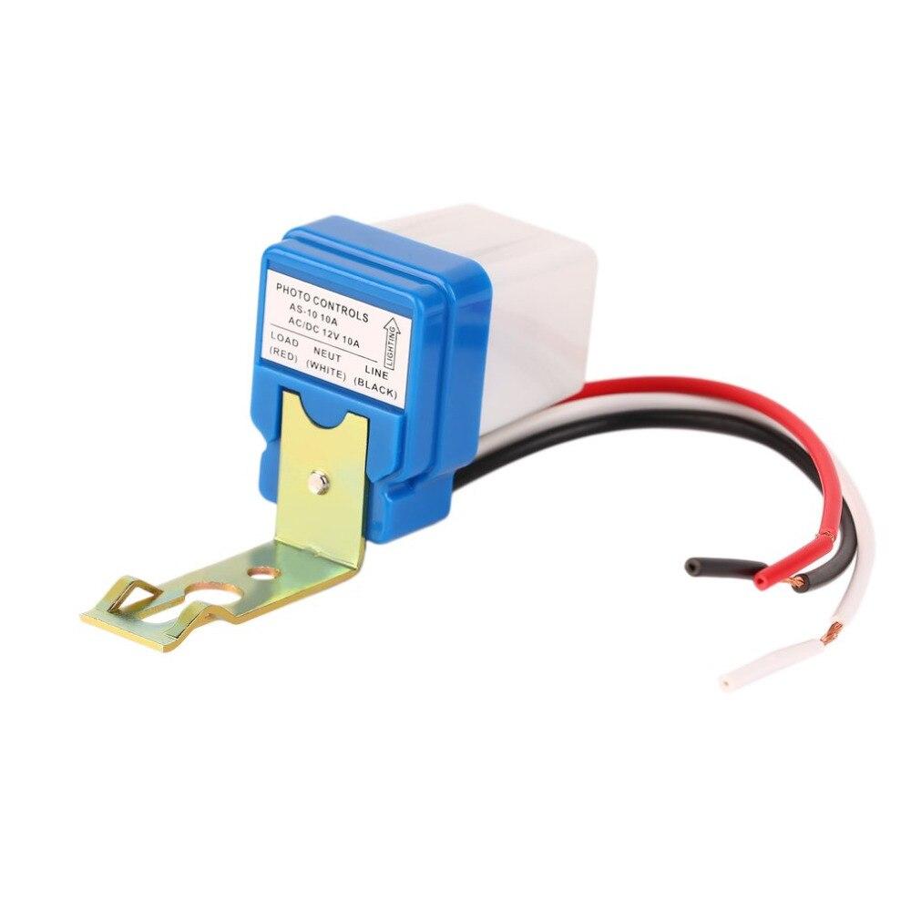1pcs Photocell sensor High Quality Photoswitch Auto Lighting AC DC On Off Street Switch Light 12V 10A de luz fotocelula fotocelu