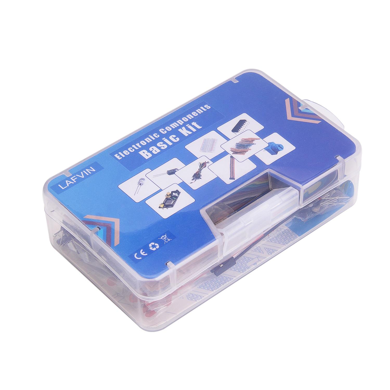 Element elektroniczny zestaw z moduł zasilania, Breadboard, rezystor, kondensator, LED, potencjometr dla Arduino