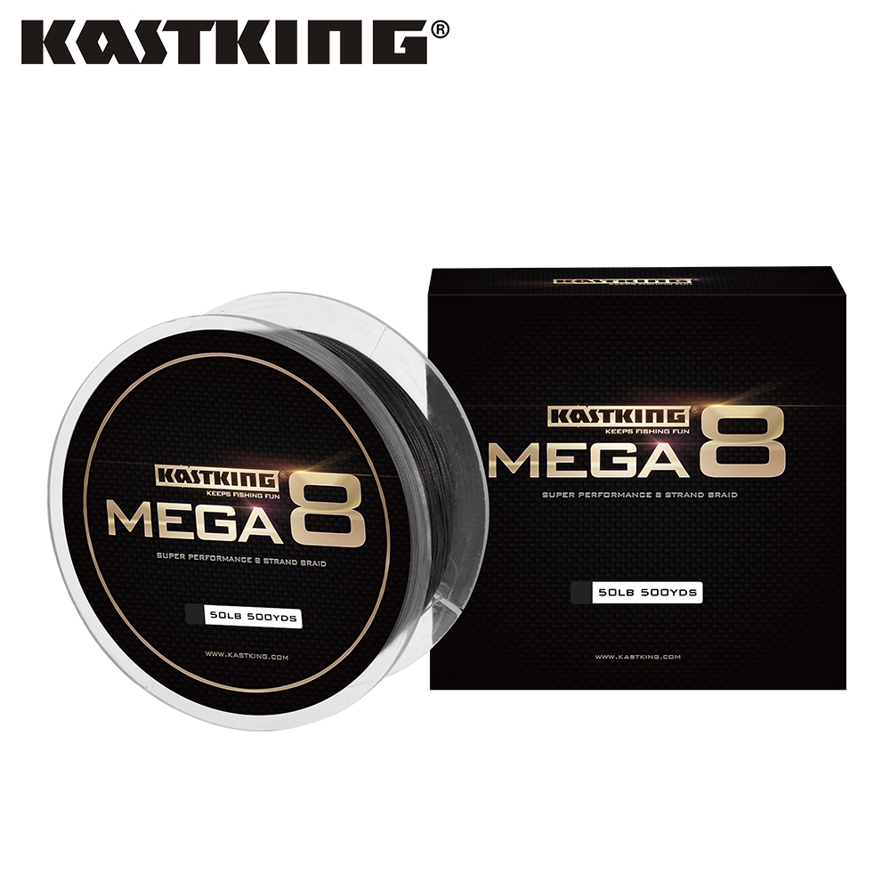 KastKing 10-80LB Mega 8 PE Braided Fishing Wire with 8 Strands in Black/Green/Yellow 274/457m Quality Multifilament Fishing Line