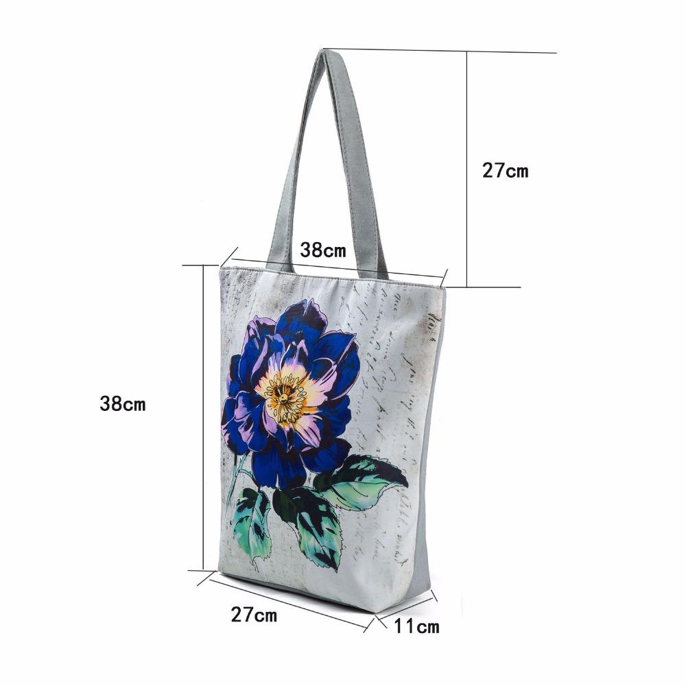 7142285653 Miyahouse Vintage Floral Design Beach Bags For Women Canvas Tote Bag  Fashion Female Single Shoulder Shopping Bags Flower Handbag-in Shoulder Bags  from ...
