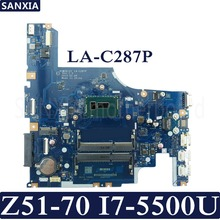 KEFU AIWZ0/Z1 LA-C287P Laptop motherboard for Lenovo Z51-70 Test original mainboard I7-5500U