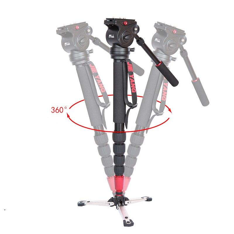 DHL PROGO JIEYANG JY0506 Aluminiumlegierung Professionelle Einbeinstativ Für Videokamera Stativ Für Video Stativkopf Tragetasche großhandel