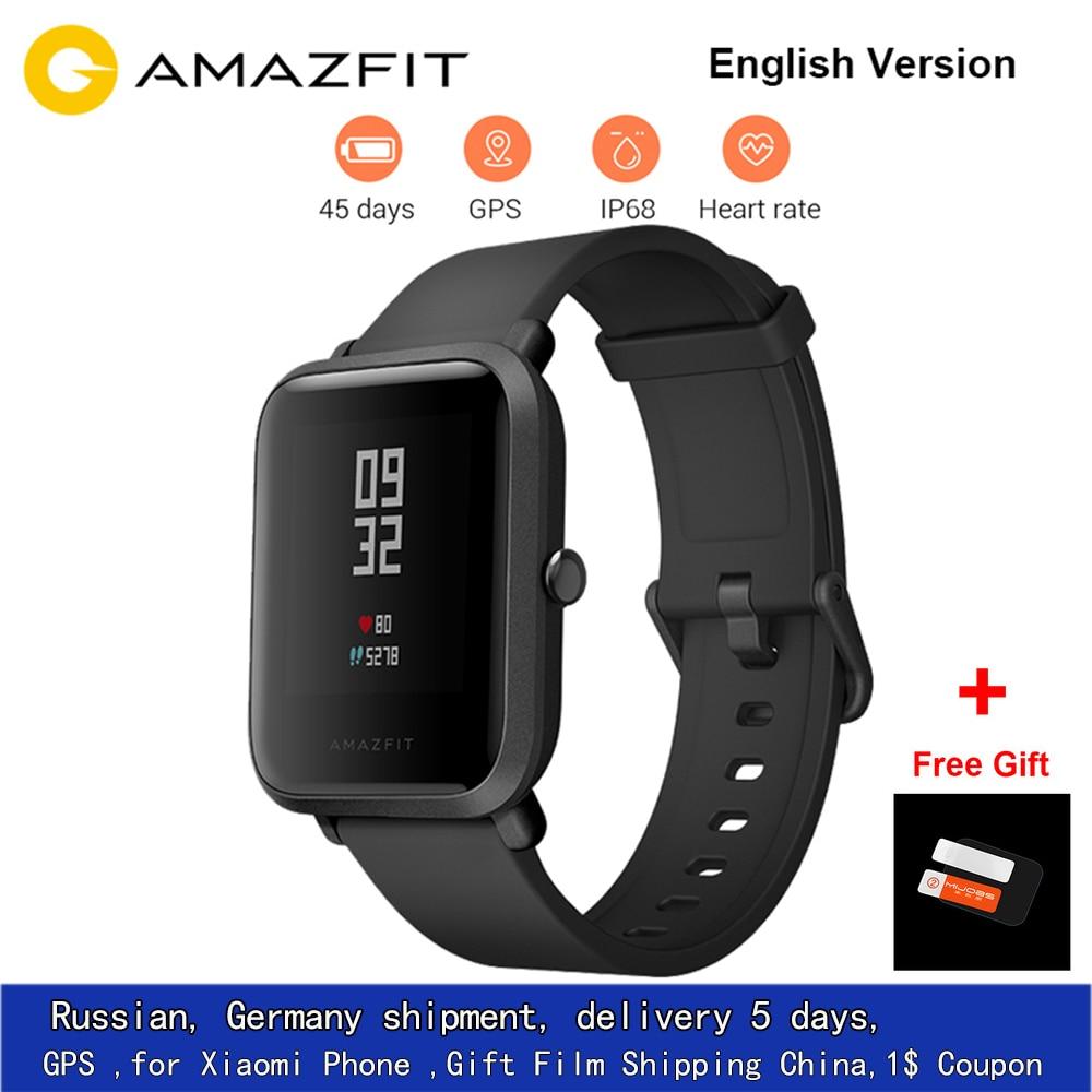 CHAUDE EN Stock Xiao mi Hua mi Amazfit Bip PEU RYTHME Lite Jeunes Verison Montre Smart Watch mi Fit IP68 Étanche glonass + GPS Anglais Version