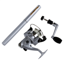 CGDS Saltwater Fishing Tackle Pen Shape Rod Pole & Reel Combos(silver)