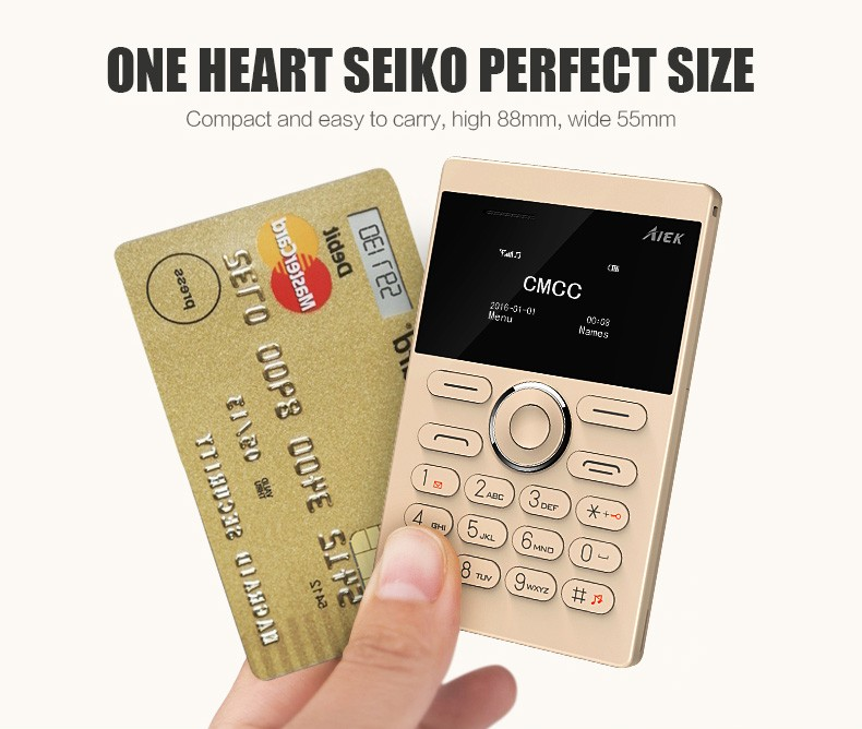 10pcs lot Ultra Thin AIEK AEKU E1 Mini Cell Card Phone Student unlocked Mobile Phone Pocket