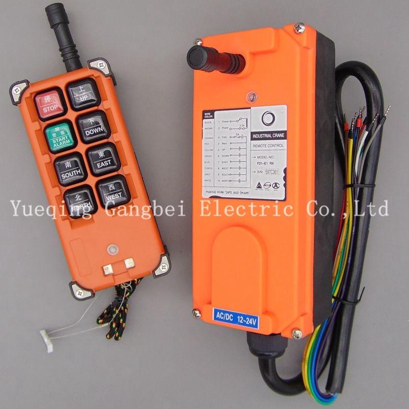 F21-E1B Hoist crane remote control wireless radio Uting remote control 380VAC 220VAC 36VAC 12VDC-24VDC nice uting ce fcc industrial wireless radio double speed f21 4d remote control 1 transmitter 1 receiver for crane