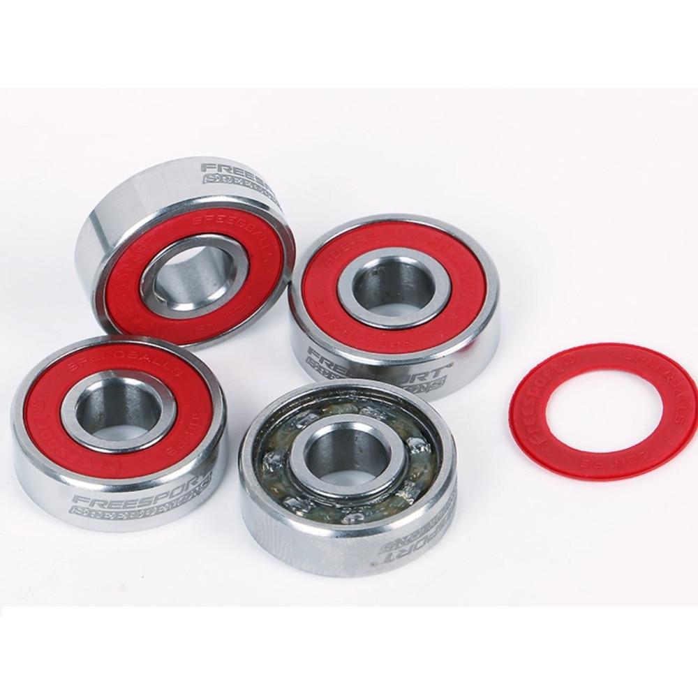 Купить с кэшбэком FreeSport 608Rs Pre-lubricated Full Steel Skate Bearings Slience For inline Skates Skateboard Scooter Wave board caster board