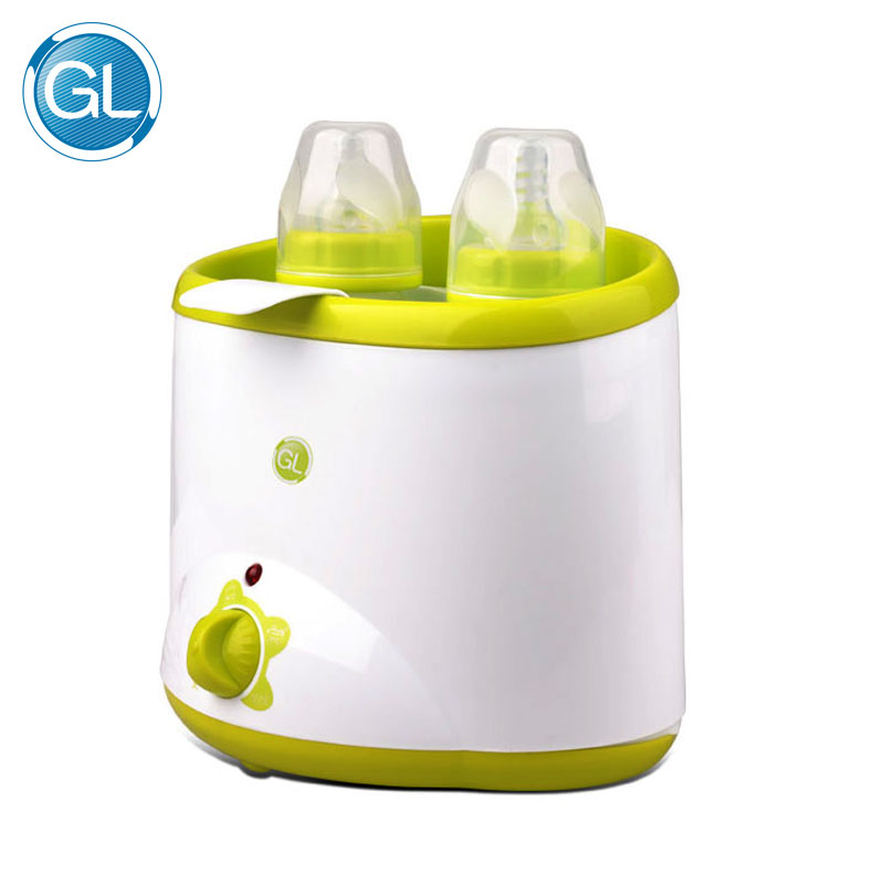 цена на Original GL Electric Double baby Bottle Warmer High Speed Electric Food and Bottle milk Warmer Suit for 2 Bottles Europe Plug