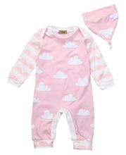 Unisex Baby Boys Girls Autumn Winter Clothes Cotton Long Sleeve Cloud Bodysuit Warm Jumpsuit font b