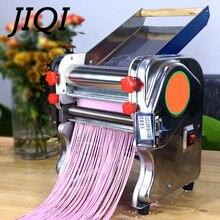 JIQI электрическая машина для приготовления макаронных изделий из нержавеющей стали автоматическая машина для прессования лапши коммерческий резак для теста для спагетти ролик для клецки ЕС