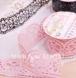 Wholesale,2.4cm wide (large) Cute Colorful Sweet Stationery Lace Tape/Decorative Sticker DIY Tape