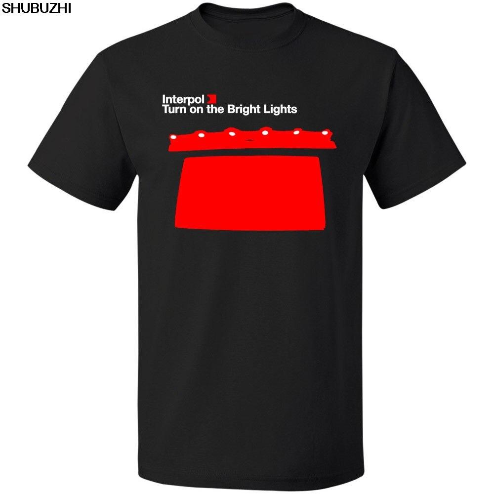 100% Wahr Interpol Drehen Auf Die Helle Lichter Rock Band Männer T-shirt Freies Verschiffen Kurzarm Rundhals T Shirt Förderung Sbz4559