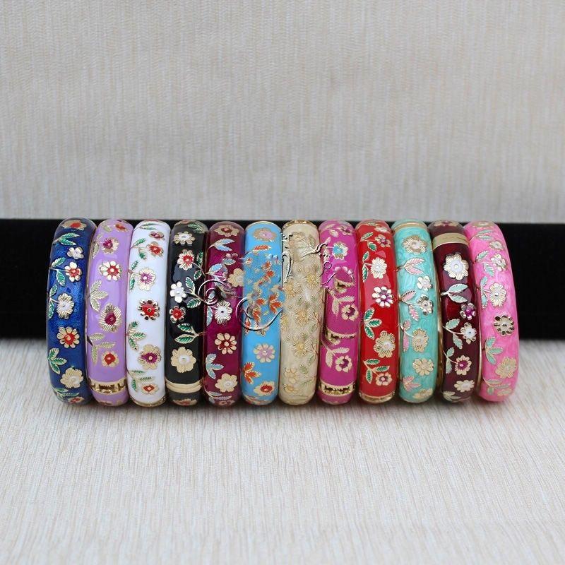 Vente chaude->@@ Wholesale10 PCS Superbe handmake Chinois En Émail Cloisonné Bracelet Manchette BRACELET-Top qualité livraison gratuite