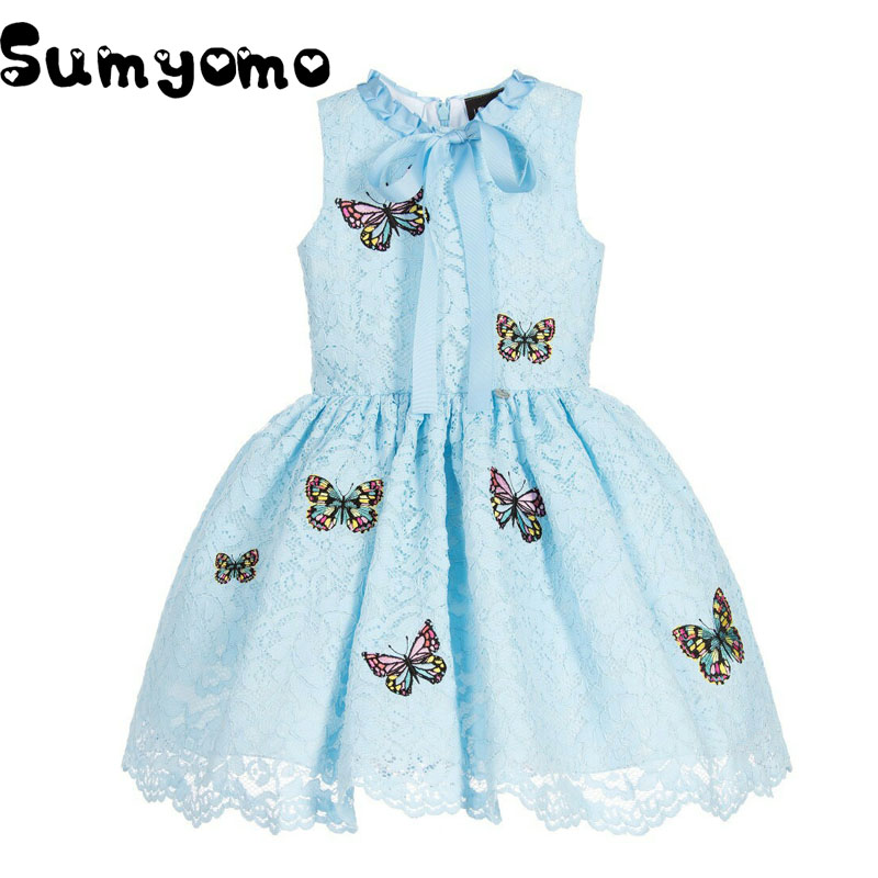 Butterfly Birthday Girl Dresses Party Princess Little Girl Kids Dress Fille 6 7 10 Years Lace Kinder Jurken Cinderella Clothes набор для лепки kinder club princess play