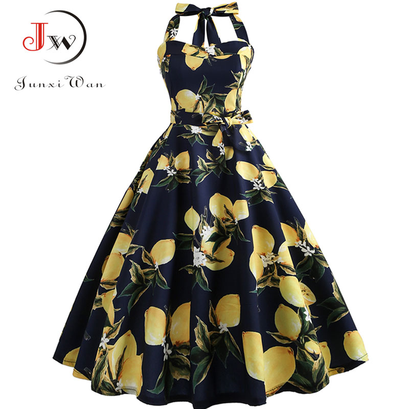 Plaid Print Halter Strapless Women Dress  Summer Sexy Backless Party Dresses Ladies Elegant Vintage Rockabilly Vestido 3